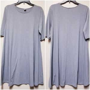 Old Navy Swing Dress Gray Large